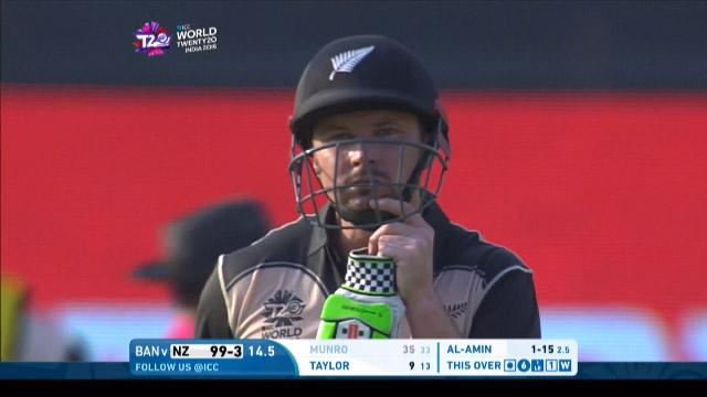 Colin Munro Wicket Fall NZ V BAN Video ICC WT20 2016