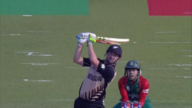 Colin Munro Innings for New Zealand V Bangladesh Video ICC WT20 2016