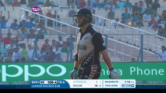 Corey Anderson Wicket Fall NZ V BAN Video ICC WT20 2016