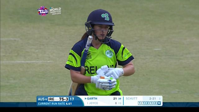 Isobel Joyce Wicket Fall IRE V AUS Video ICC Womens WT20 2016