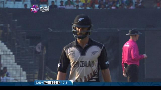Grant Elliott Wicket Fall NZ V BAN Video ICC WT20 2016