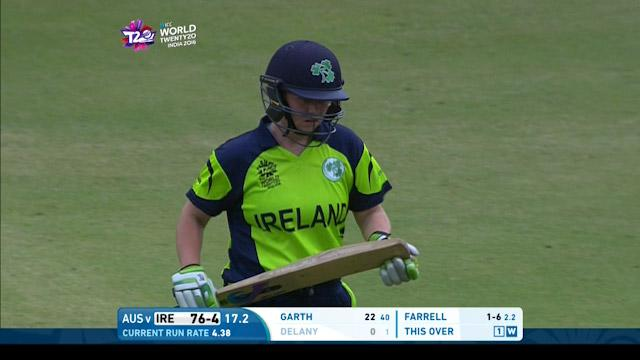 Laura Delany Wicket Fall IRE V AUS Video ICC Womens WT20 2016