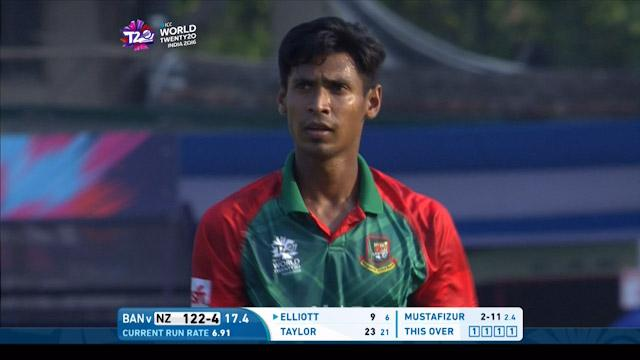 Mustafizur's brilliant slower delivery