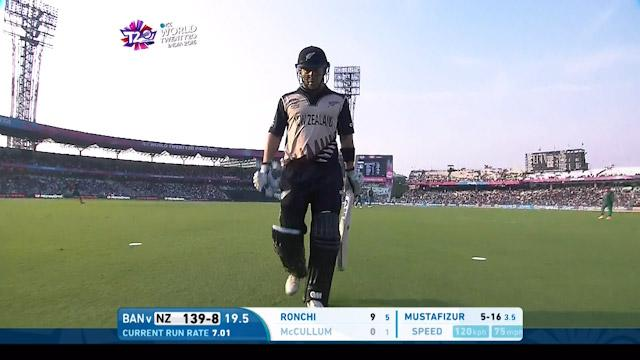 Nathan McCullum Wicket Fall NZ V BAN Video ICC WT20 2016