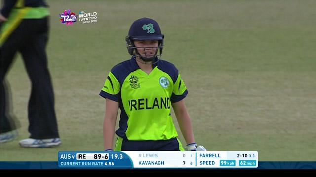 Robyn Lewis Wicket Fall IRE V AUS Video ICC Womens WT20 2016