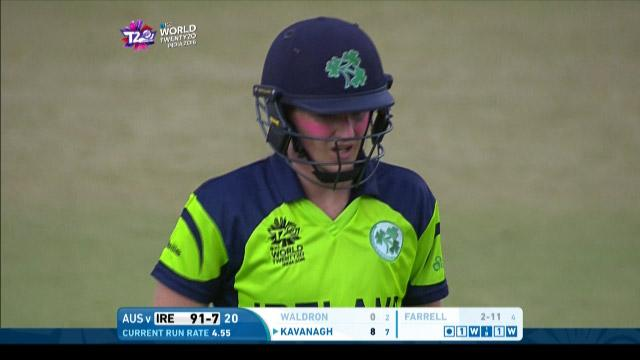Mary Waldron Wicket Fall IRE V AUS Video ICC Womens WT20 2016