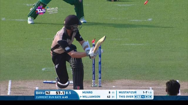 New Zealand wicket Losses v Bangladesh Video ICC WT20 2016