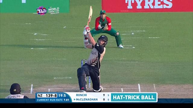 McClenaghan hits hat-trick ball for 90 metre Six!