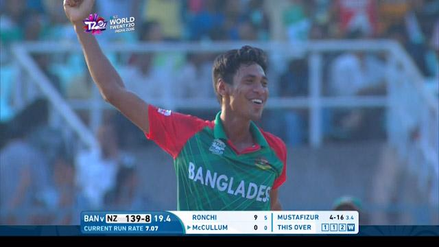 Mustafizur takes two wickets in two balls
