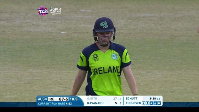 Ireland wicket Losses v Australia Video ICC Womens WT20 2016