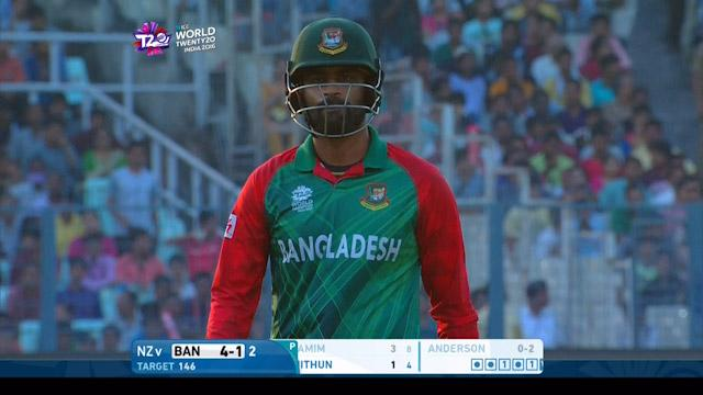 Tamim Iqbal Wicket Fall BAN V NZ Video ICC WT20 2016