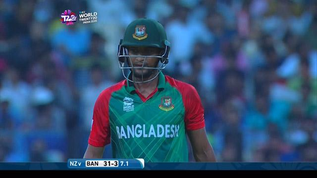 Shakib Al Hasan Wicket Fall BAN V NZ Video ICC WT20 2016