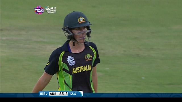 Elyse Villani Wicket Fall AUS V IRE Video ICC Womens WT20 2016
