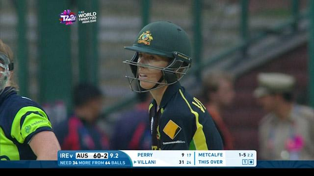 Elyse Villani Innings for Australia V Ireland video ICC Womens WT20 2016