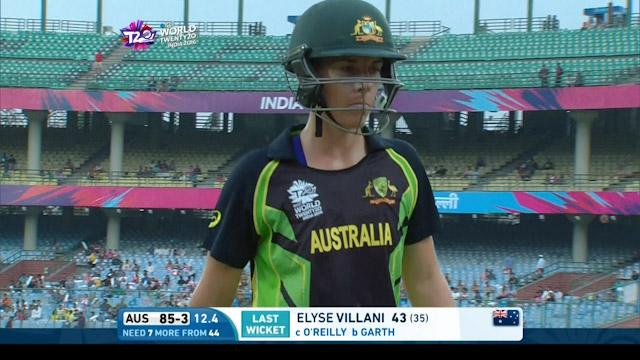 Australia wicket Losses v Ireland Video ICC Womens WT20 2016