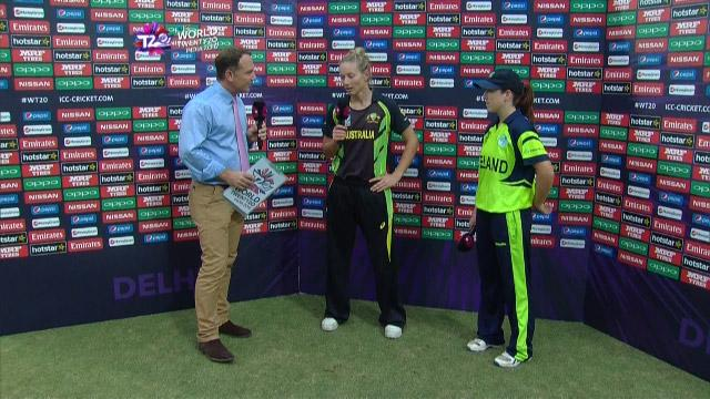 Match Presentation for AUS V IRE Match 16 ICC Womens WT20 2016