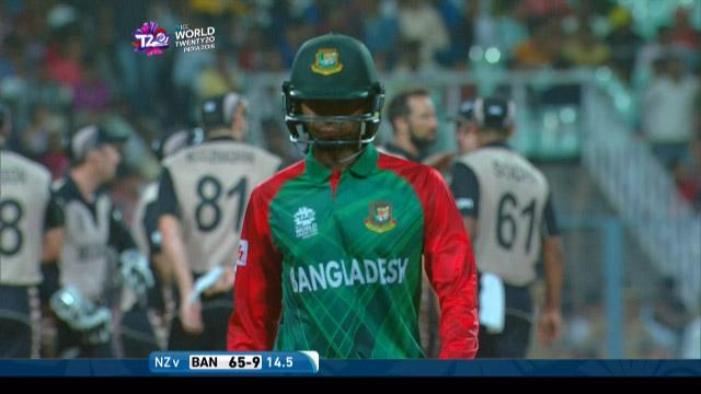 Mustafizur Rahman Wicket Fall BAN V NZ Video ICC WT20 2016