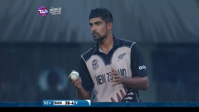 Ish Sodhi 3-21 for NZ V BAN ICC WT20 2016