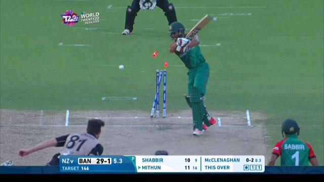 Bangladesh wicket Losses v New Zealand Video ICC WT20 2016