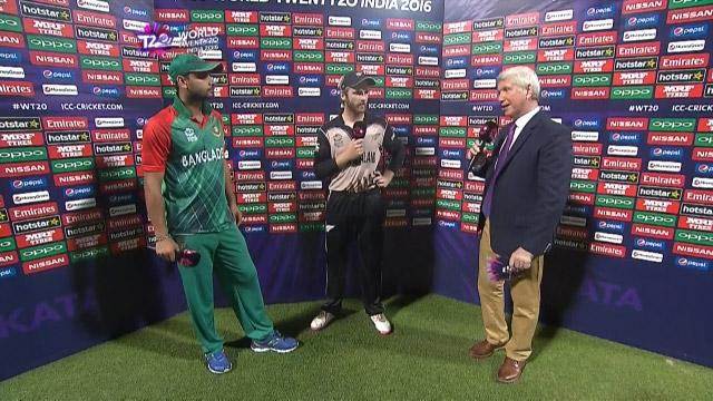 Match Presentation for BAN V NZ Match 28 ICC WT20 2016