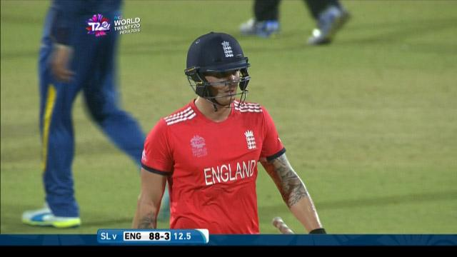 Jason Roy Wicket Fall ENG V SL Video ICC WT20 2016