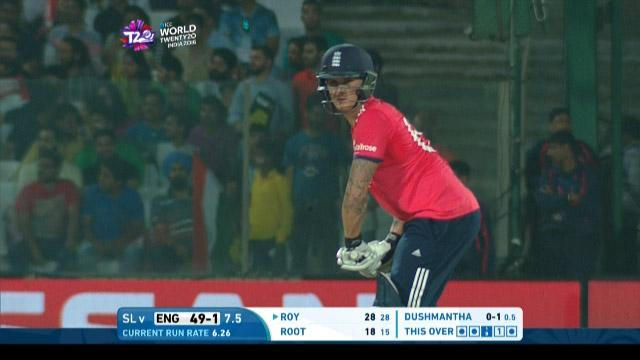 Jason Roy Innings for England V Sri Lanka Video ICC WT20 2016