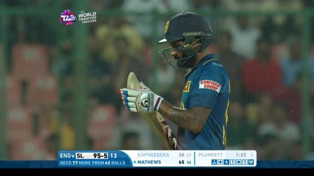 Chamara Kapugedera Wicket Fall SL V ENG Video ICC WT20 2016