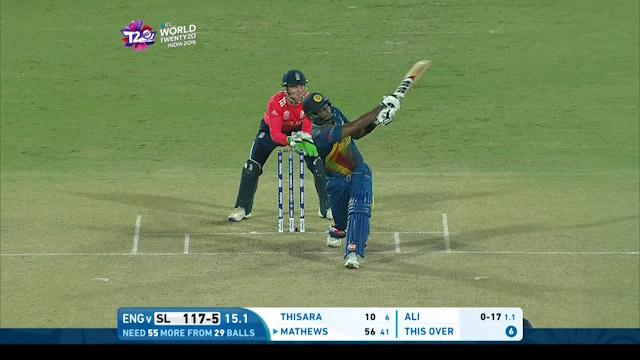 Mathews hits back to back sixes!