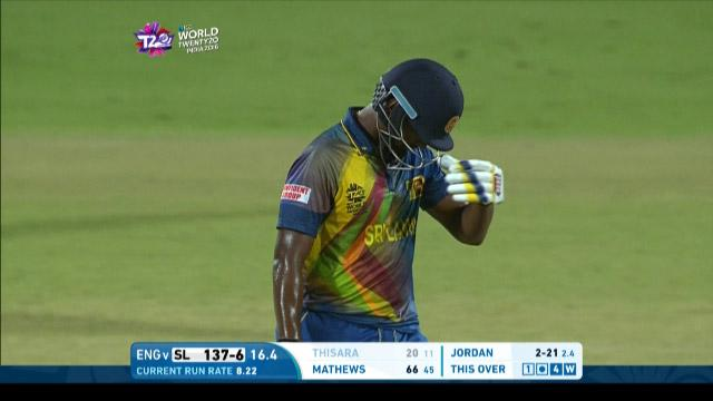 Thisara Perera Wicket Fall SL V ENG Video ICC WT20 2016