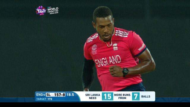 Chris Jordan Match Hero for England v Sri Lanka ICC WT20 2016