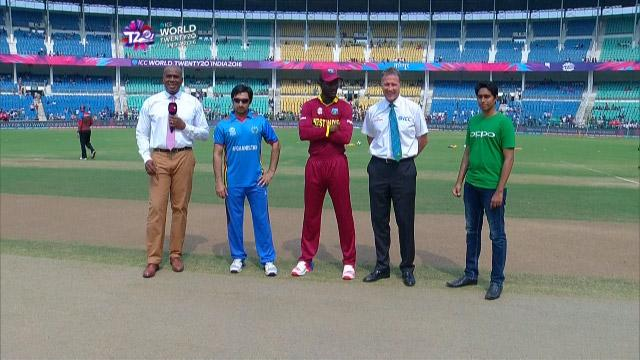 West Indies wins Toss against Afganistan Match 30 ICC WT20 2016