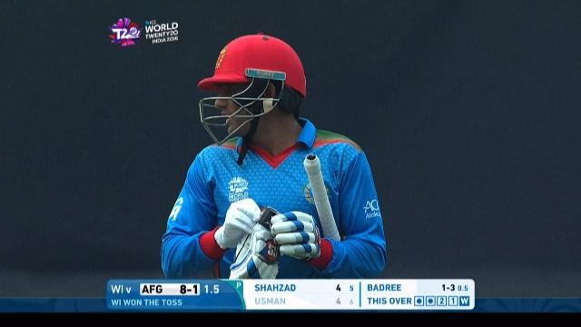 Usman Ghani Wicket Fall AFG V WI Video ICC WT20 2016