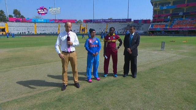 India wins Toss against West Indies Match 18 ICC Womens WT20 2016