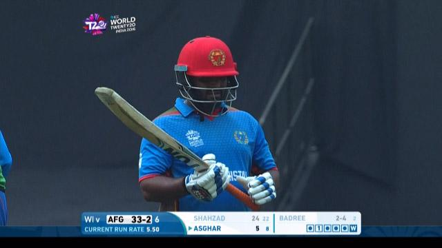 Mohammad Shahzad Wicket Fall AFG V WI Video ICC WT20 2016