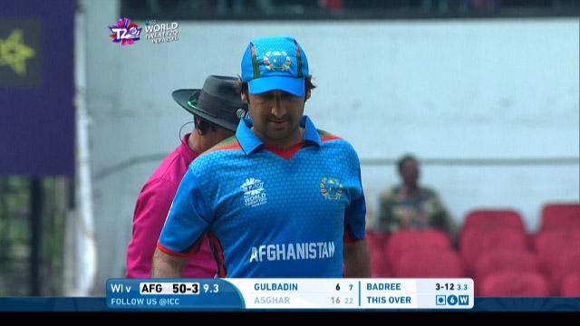 Asghar Stanikzai Wicket Fall AFG V WI Video ICC WT20 2016