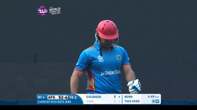 Samiullah Shenwari Wicket Fall AFG V WI Video ICC WT20 2016