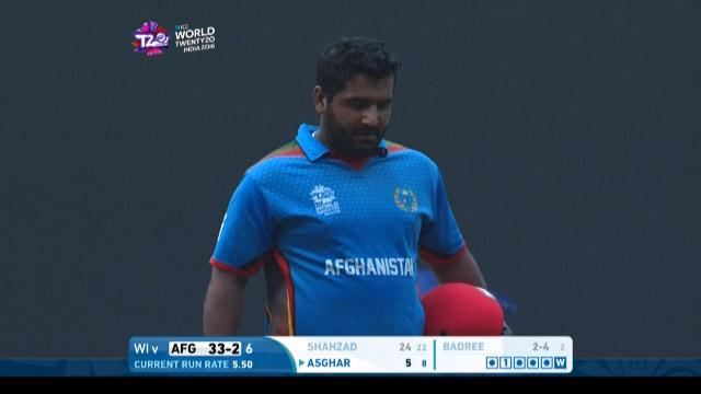 Afganistan wicket Losses v West Indies Video ICC WT20 2016