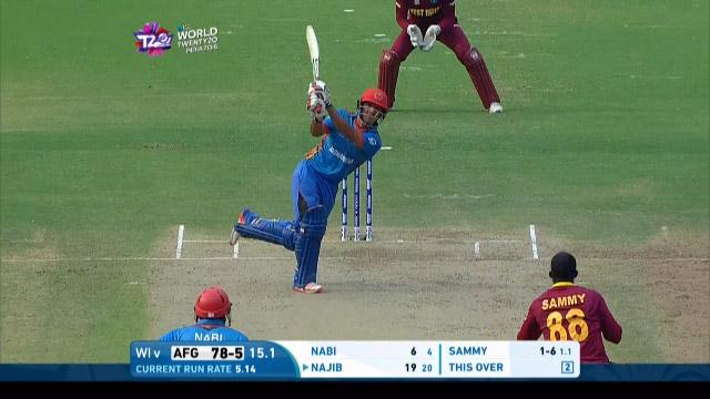 Najibullah Zadran Innings for Afganistan V West Indies Video ICC WT20 2016