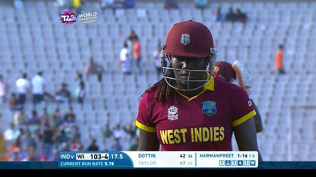 Stafanie Taylor Wicket Fall WI V IND Video ICC Womens WT20 2016