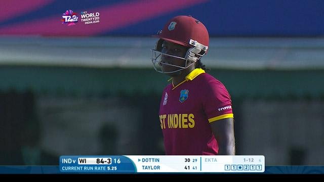 Deandra Dottin Innings for West Indies V India Video ICC Womens WT20 2016