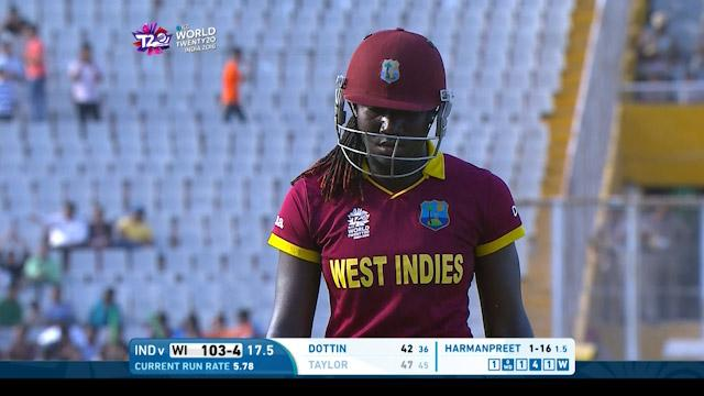 West Indies wicket Losses v India Video ICC Womens WT20 2016