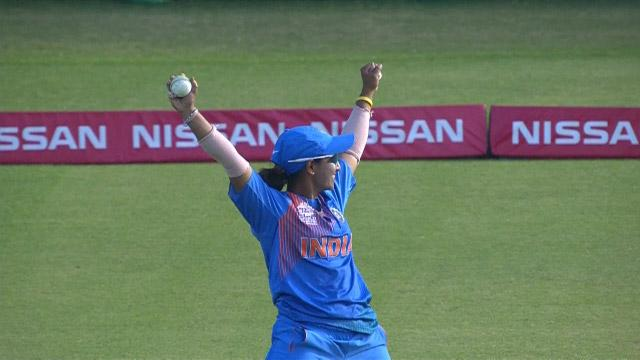Anuja Patil takes a stunning catch