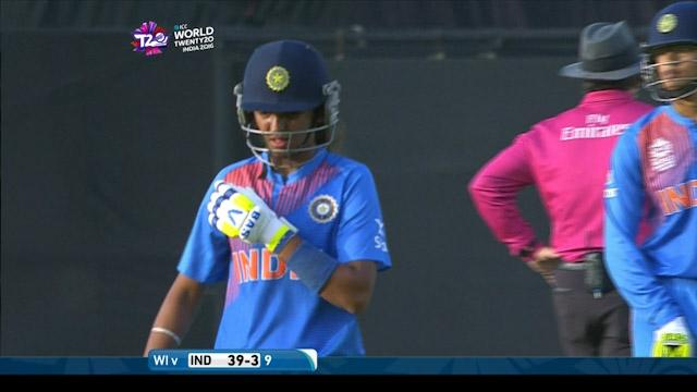 Harmanpreet Kaur Wicket Fall IND V WI Video ICC Womens WT20 2016