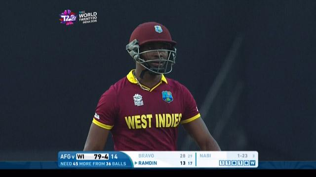 Dwayne Bravo Wicket Fall WI V AFG Video ICC WT20 2016