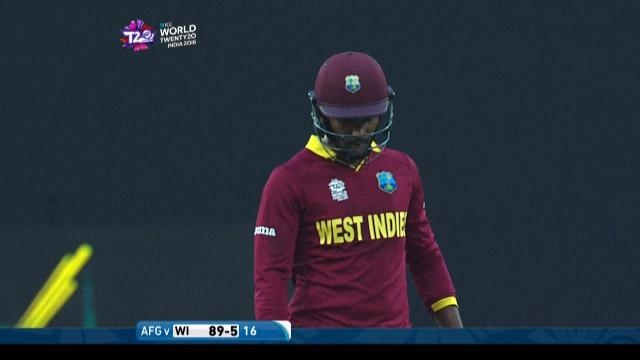Denesh Ramdin Wicket Fall WI V AFG Video ICC WT20 2016