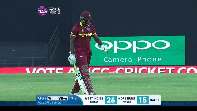 Andre Russell Wicket Fall WI V AFG Video ICC WT20 2016
