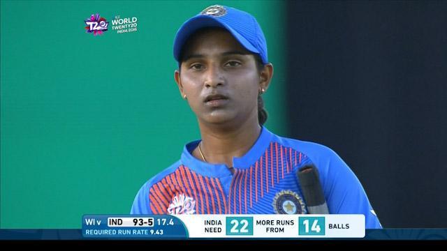 Anuja Patil Wicket Fall IND V WI Video ICC Womens WT20 2016