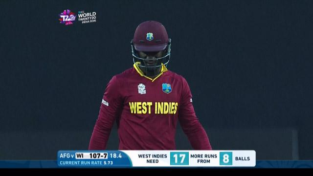 Darren Sammy Wicket Fall WI V AFG Video ICC WT20 2016