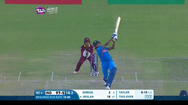 Jhulan hits a huge six