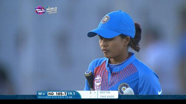 Ekta Bisht Wicket Fall IND V WI Video ICC Womens WT20 2016